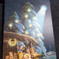 Postales: FELICITACION NAVIDAD * NIÑOS JUNTO A JESÚS EN EL ESTABLO * 1963. Lote 268597394