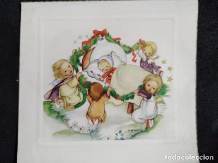 FELICITACION NAVIDAD GRANADOS * NIÑOS ALREDEDOR DE LA CUNA* C Y Z (Postales - Postales Temáticas - Navidad)