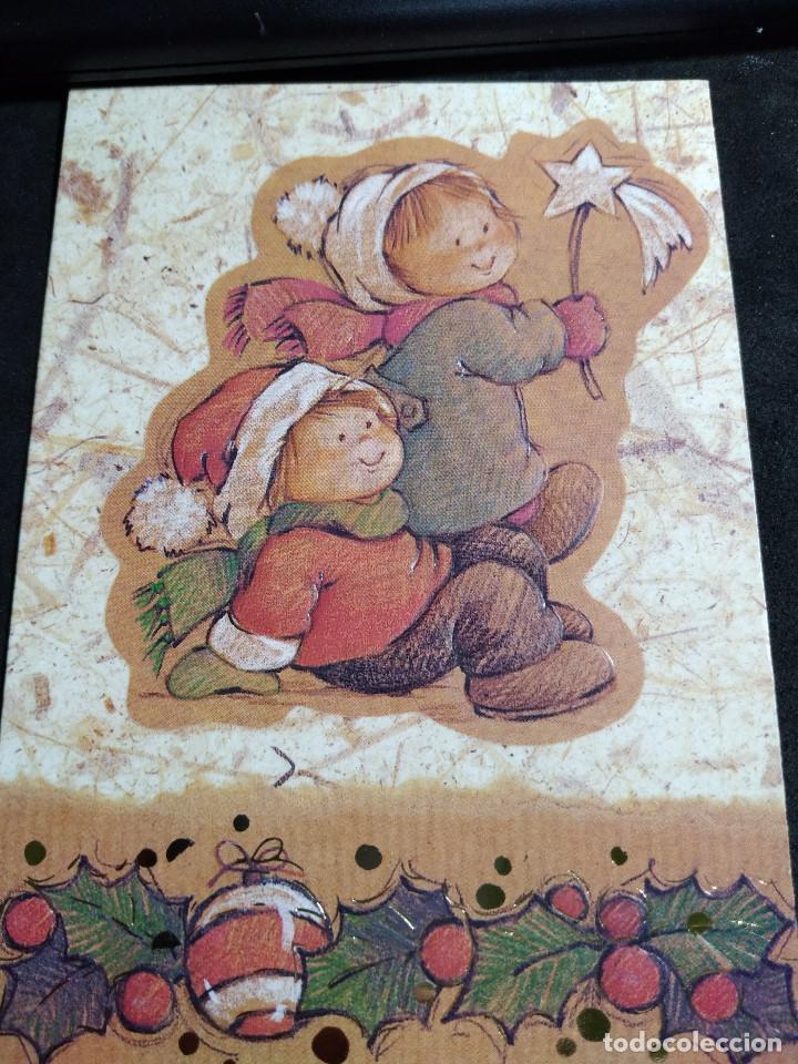 FELICITACION NAVIDAD * NIÑOS CON ESTRELLA * (Postales - Postales Temáticas - Navidad)