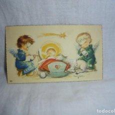 Postales: TARJEDA DE FELICITACION ANGELES CON NIÑO. Lote 269002699