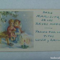 Postales: PEQUEÑA TARJETA DE FELICITACION DE NAVIDAD , AÑOS 50. Lote 270416323