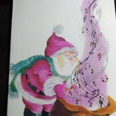 Postales: FELICITACION NAVIDAD ANNA LLORENS * PAPÁ NOEL CON SACO MUSICAL * 1992. Lote 274751378