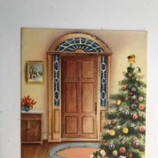 Postales: FELICITACIÓN NAVIDEÑA TROQUELADA, EDIC. FERPO, ARGENTINA (H.1955?) MEDÍDAS: 13 X 11 CM.,. Lote 275174433