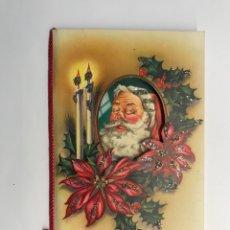 Postales: FELICITACIÓN NAVIDEÑA TROQUELADA, PAPA NOEL (A.1954) EDIC. CYZ 1112/3. Lote 275174468