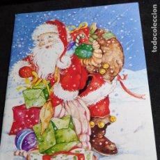 Postales: FELICITACION NAVIDAD * PAPÁ NOEL CON SACO LLENO DE REGALOS *. Lote 275181958