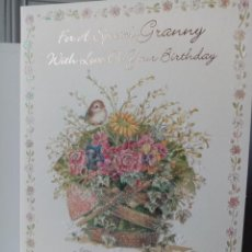 Cartes Postales: GRAN FELICITACIÓN RELIEVE - ROSA BATLLÉ - EDICIONES BUSQUETS - PAJARITO FLORES. Lote 276169903