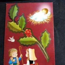Cartoline: FELICITACION NAVIDAD JOAN * PASTORCITOS , NIÑO JESÚS * SUBI 1973. Lote 276265293