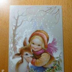 Cartes Postales: FELICITACION NAVIDAD MARTA RIBAS ILUSTRADORA 9 X 13 CMTS. Lote 276611103