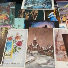 Postales: LOTE DE 22 POSTALES DE NAVIDAD ANTIGUAS. Lote 276781973