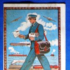 Postales: FELICITACIÓN NAVIDEÑA: CON TARIFAS EN DORSO. EL CARTERO. FELICES FIESTAS BONES FESTES, 1989.. Lote 276814618