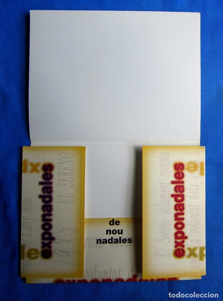 Postales: EXPONADALES. EXPOSICIÓN DE FELICITACIONES NAVIDEÑAS. FELICITACIÓN NAVIDAD. FONS JOAN AMADES, 2004. - Foto 10 - 276821458