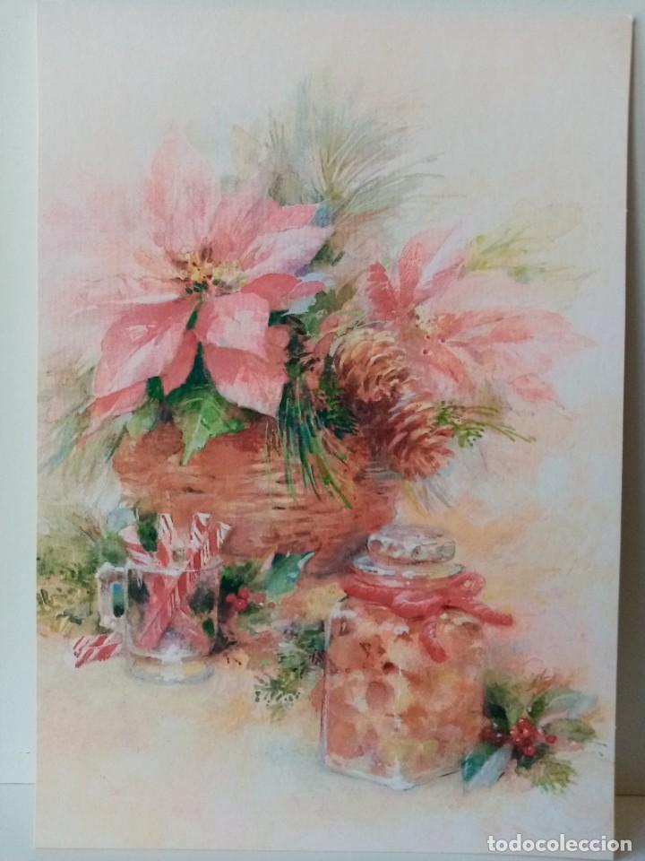 FELICITACIÓN NAVIDAD - ALEGORÍA - FLOR DE PASCUA - EDICIONES HALLMARK (Postales - Postales Temáticas - Navidad)