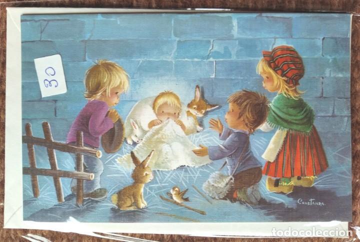 TARJETA DE FELICITACION DE NAVIDAD - ILUSTRACION CONSTANZA - CON SOBRE ORIGINAL (Postales - Postales Temáticas - Navidad)