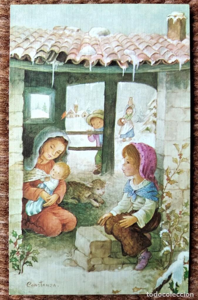 TARJETA DE FELICITACION DE NAVIDAD - ILUSTRACION CONSTANZA (Postales - Postales Temáticas - Navidad)