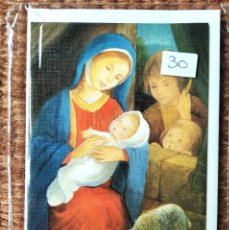 Postales: TARJETA DE FELICITACION DE NAVIDAD - ILUSTRACION CONSTANZA - CON SOBRE ORIGINAL. Lote 277251388