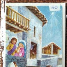 Postales: TARJETA DE FELICITACION DE NAVIDAD - ILUSTRACION CONSTANZA - CON SOBRE ORIGINAL. Lote 277251523