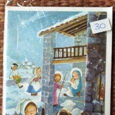 Postales: TARJETA DE FELICITACION DE NAVIDAD - ILUSTRACION CONSTANZA - CON SOBRE ORIGINAL. Lote 277251593