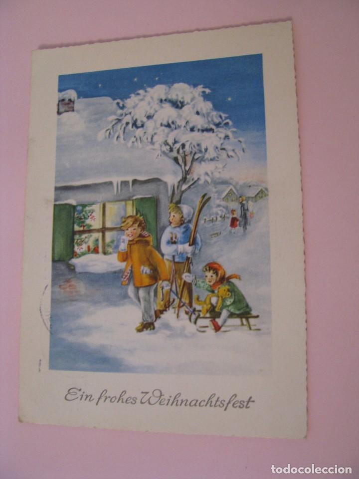 POSTAL DE NAVIDAD. ALEMANIA. CIRCULADA 1958. (Postales - Postales Temáticas - Navidad)