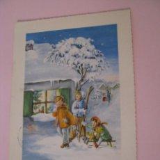 Postales: POSTAL DE NAVIDAD. ALEMANIA. CIRCULADA 1958.. Lote 277275288