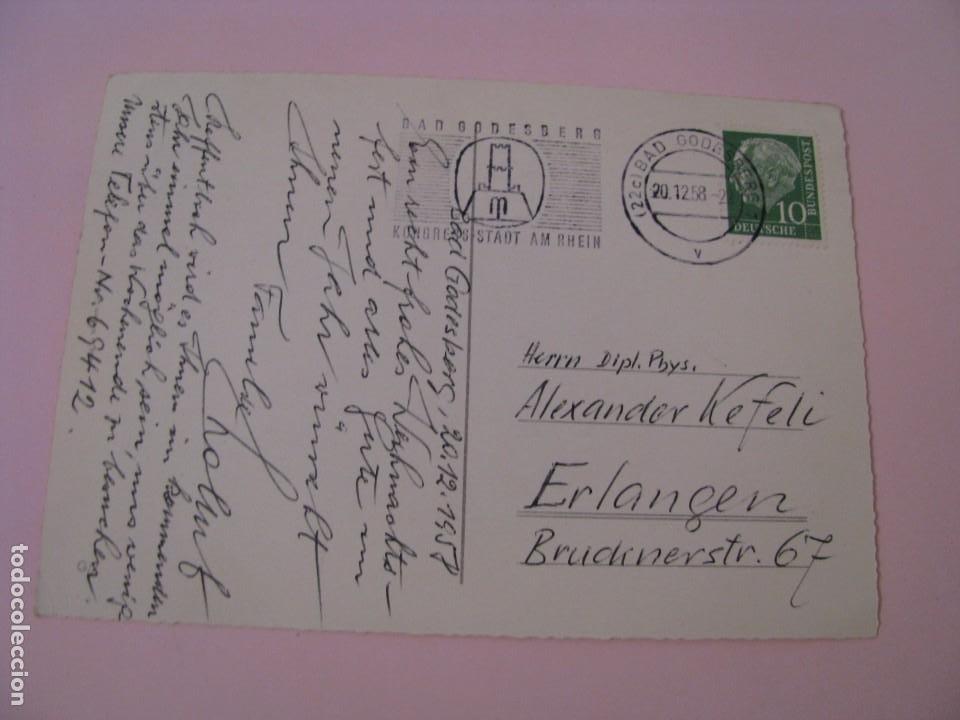 Postales: POSTAL DE NAVIDAD. ALEMANIA. CIRCULADA 1958. - Foto 2 - 277275288