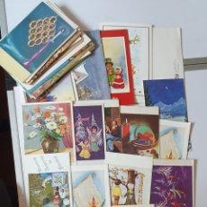 Postales: LOTE DE POSTALES DE NAVIDAD PINTADAS CON LOS PIES Y LA BOCA. Lote 278211043