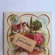 Postales: FELICITACIÓN NAVIDEÑA TROQUELADA. ILUSTRA C.VIVES. EDIC. CYZ 1070 (A.1955) DEDICADA. Lote 280959978