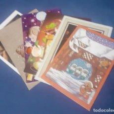 Postales: LOTE DE 6 FELICITACIONES DE NAVIDAD, AÑOS 70/80 SIN ESCRIBIR , NUEVAS. Lote 283198933