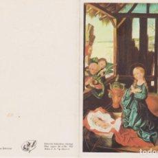 Postales: TARJETA DE FELICITACIÓN DE NAVIDAD. 1846 COPIA PINTADA CON LA BOCA SCHRICKER ARTIS MUTI 1965. Lote 285569758
