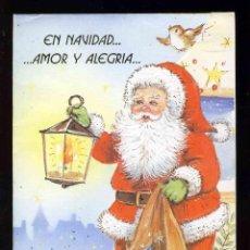 Postales: FELICITACION NAVIDEÑA DESPLEGABLE CON DIORAMA DE PAPA NOEL EN EL INTERIOR (VER FOTO ADICIONAL). Lote 286651438