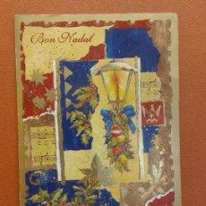 Postales: BON NADAL. TARJETA DE NAVIDAD. BONITA POSTAL. DIPTICO.NO CIRCULADA. Lote 287878798