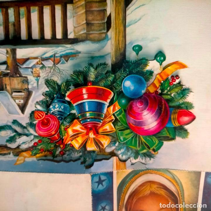 Postales: FELICITACION NAVIDADEÑA CIRCULADA Postales de Navidad Ó Christmas. TRES DIMENSIONES TROQUELADA 1969 - Foto 2 - 288470553