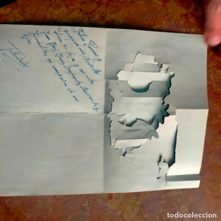 Postales: FELICITACION NAVIDADEÑA CIRCULADA Postales de Navidad Ó Christmas. TRES DIMENSIONES TROQUELADA 1969 - Foto 5 - 288470553