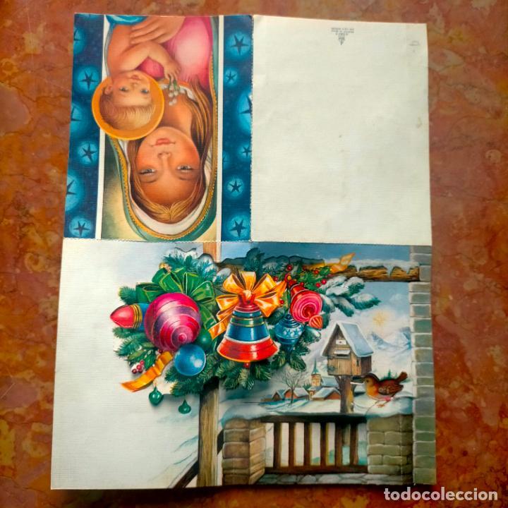 FELICITACION NAVIDADEÑA CIRCULADA POSTALES DE NAVIDAD Ó CHRISTMAS. TRES DIMENSIONES TROQUELADA 1969 (Postales - Postales Temáticas - Navidad)