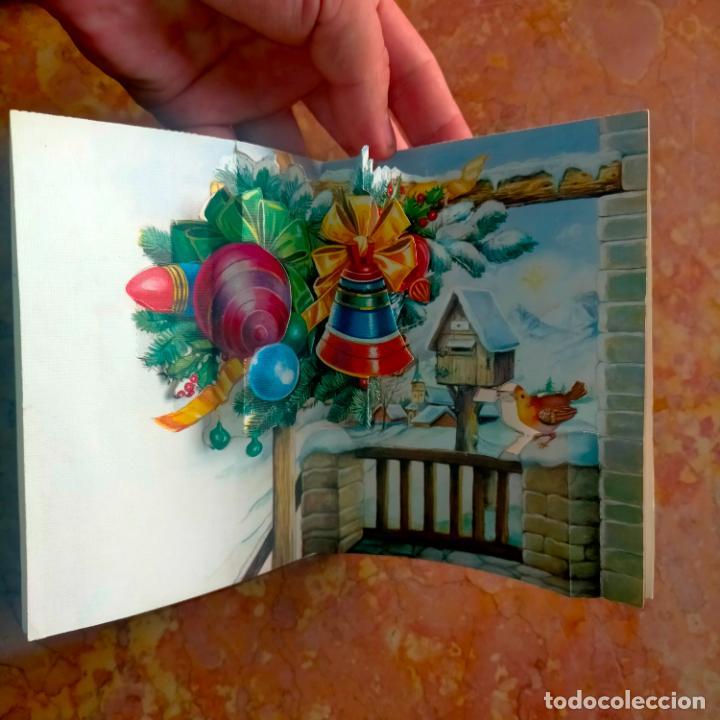 Postales: FELICITACION NAVIDADEÑA CIRCULADA Postales de Navidad Ó Christmas. TRES DIMENSIONES TROQUELADA 1969 - Foto 3 - 288470553