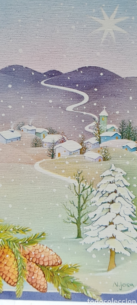PRECIOSA POSTAL DE NAVIDAD. SIN ESCRIBIR. N. JOSA (Postales - Postales Temáticas - Navidad)