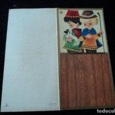 Postales: DÍPTICO ILUSTRADO NAVIDAD PASTORCILLOS - ED. VELERO, S/1555-1 - 12 X 12 CM. Lote 289562173