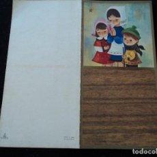 Postales: DÍPTICO ILUSTRADO NAVIDAD NIÑOS ORANDO - ED. VELERO, S/1555-3 - 12 X 12 CM. Lote 289562743