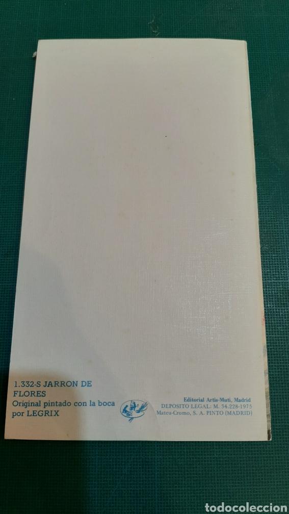 Postales: FELICITACIÓN 1332 JARRÓN FLIRES LEGRIX ARTIS MUTIS MADRID VER MIS LOTES POSTALES - Foto 3 - 289580703