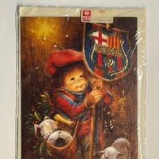 Postales: FELICITACION NAVIDAD FÚTBOL CLUB BARCELONA. POSTAL CON PASTORCILLO (H.1960?) CON SOBRE…. Lote 293971408