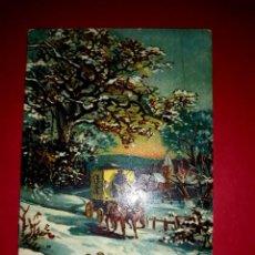 Postales: POSTAL ANTIGUA NAVIDAD CON UN POCO DE RELIEVE. Lote 294069273