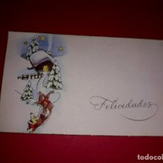 Postales: POSTAL DE NAVIDAD ANTIGUA 1956 TIPO TARGETA. Lote 294459758