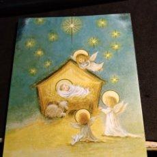 Postales: FELICITACION NAVIDAD * ANGELITOS PROTEGIENDO AL NIÑO *. Lote 295819088
