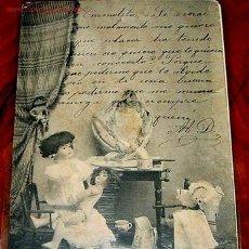 Postales: ANTIGUA POSTAL DE MUÑECAS DE PORCELANA ORIGINAL DE PRINCIPIOS DE SIGLO. Lote 920433
