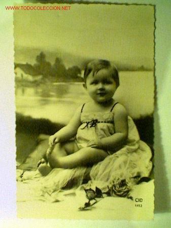 POSTAL ANTIGUA FECHADA POR ATRÁS 27 MARZO 1953 (Postales - Postales Temáticas - Niños)