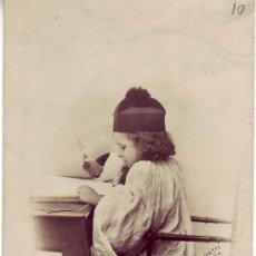 Postales: POSTAL DE NIÑO-CIRCULADA EN 1902 CON SELLO Y MATASELLO FRANCÉS. Lote 25351030