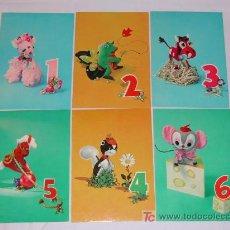 Postales: LOTE DE 6 BONITAS POSTALES INFANTILES DE LOS AÑOS 60. DE 1 A 6 AÑITOS.. Lote 26117869