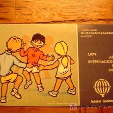 Postales: POSTAL AÑO INTERNACIONAL DEL NIÑO 1979... SERIE L Nº3 DE E. LARA. Lote 6272536