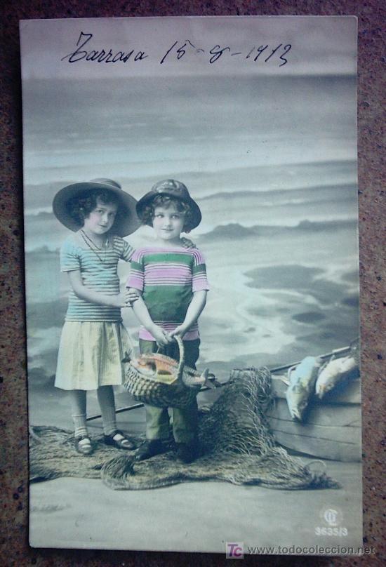 POSTAL ANTIGUA , PAREJA DE NIÑOS (Postales - Postales Temáticas - Niños)