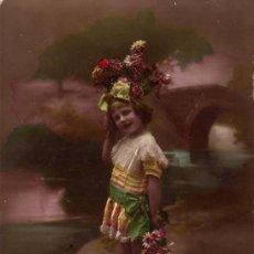 Postales: POSTAL DE NIÑA CON PURPURINA. Lote 19209985