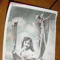 Postales: ANTIGUA POSTAL INFANTIL - AÑOS 20 - COLOREADA - ESCRITA. Lote 1314230